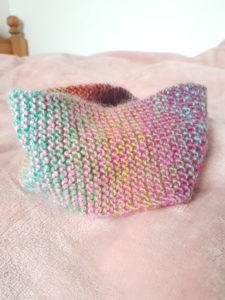 Snood en tricot multicolore